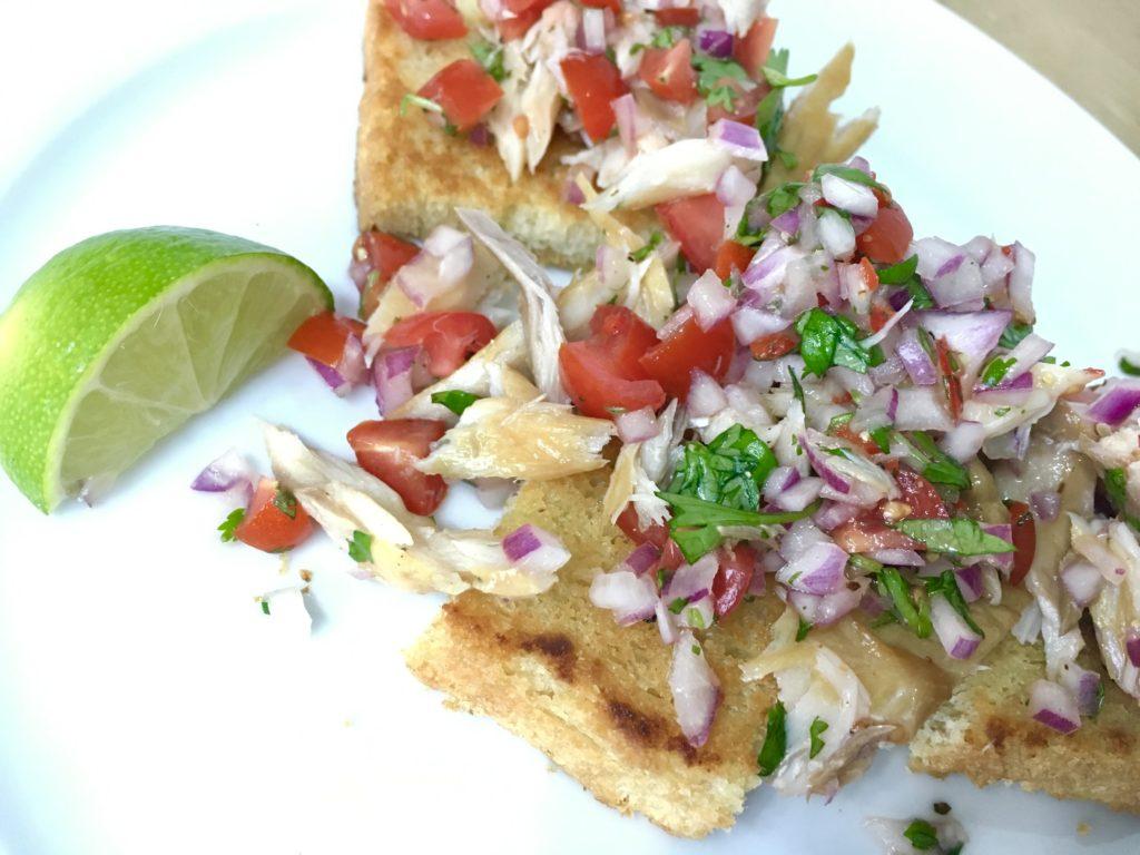 mackerel salsa, starters