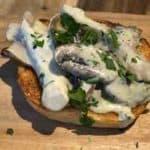 how to make creamy garlic mushrooms #wild mushrooms #garlic #parsley