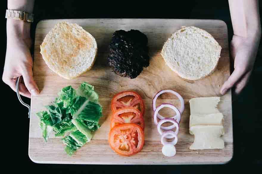 deconstructed burger
