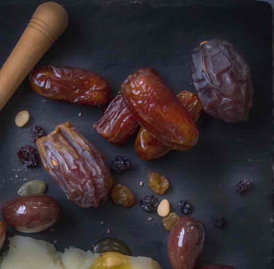 Juicy dates used in making an onion chutney