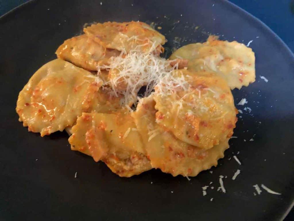 leftover ham ravioli & ricota